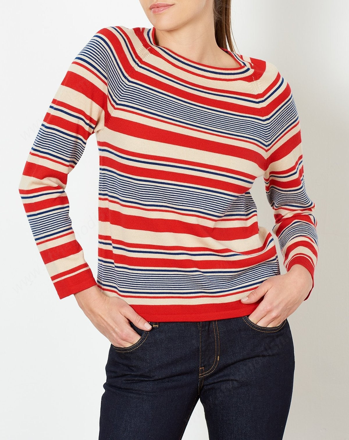 A.p.c. Womens's A.p.c. Mont Blanc Sweater - Red - -1