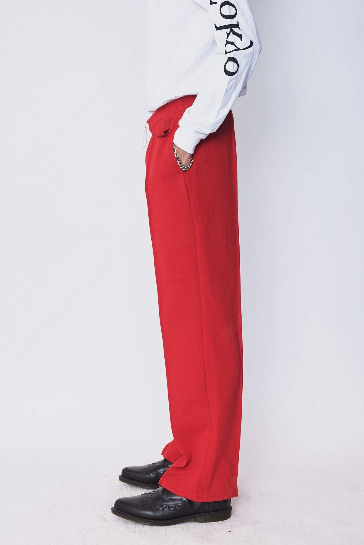 Assembly New York Men's Assembly York Cotton Pintuck Sweat Pant - Red - -1