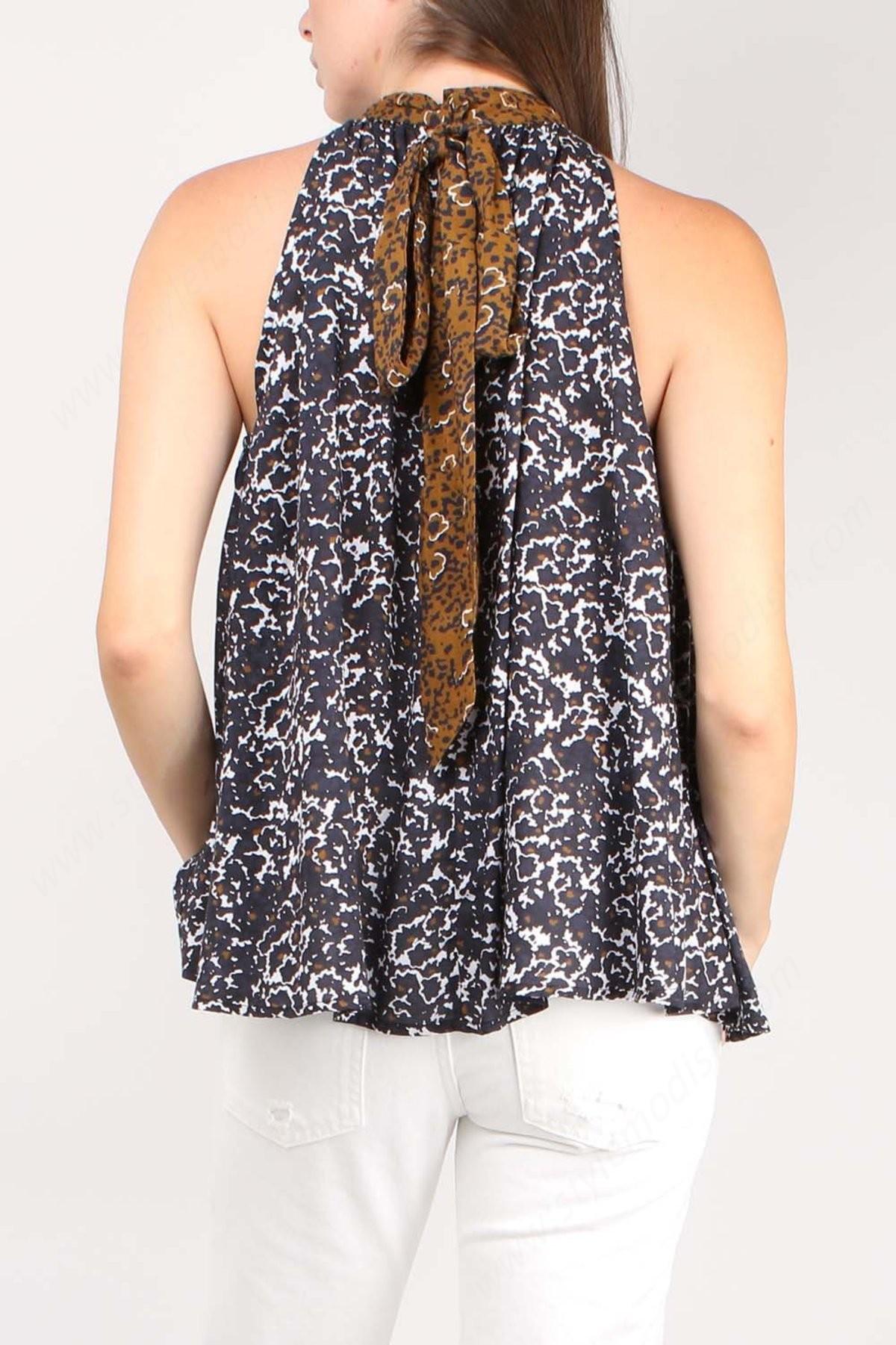 Lady's Apiece Apart Medina Tie Neck Top - Multi Floral - -3