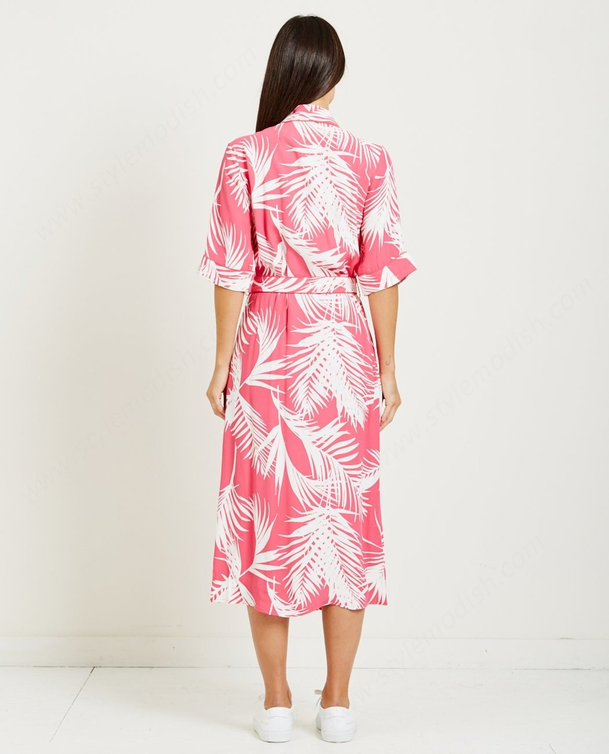 Lady's Just Female Luciana Wrap Dress - Tropical - -3