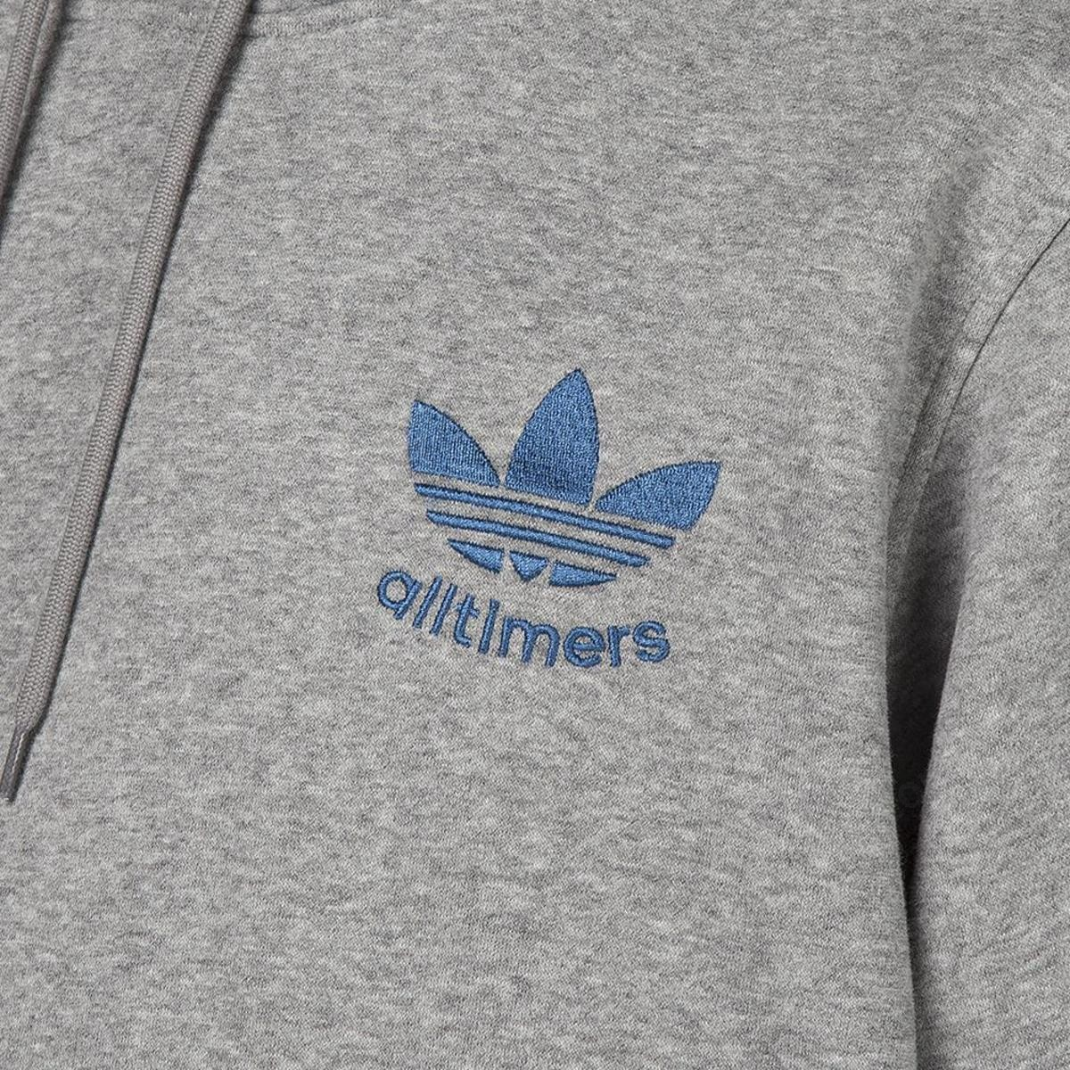Men's Adidas By Alltimers Pullover Hoodie - Core Heather - -5
