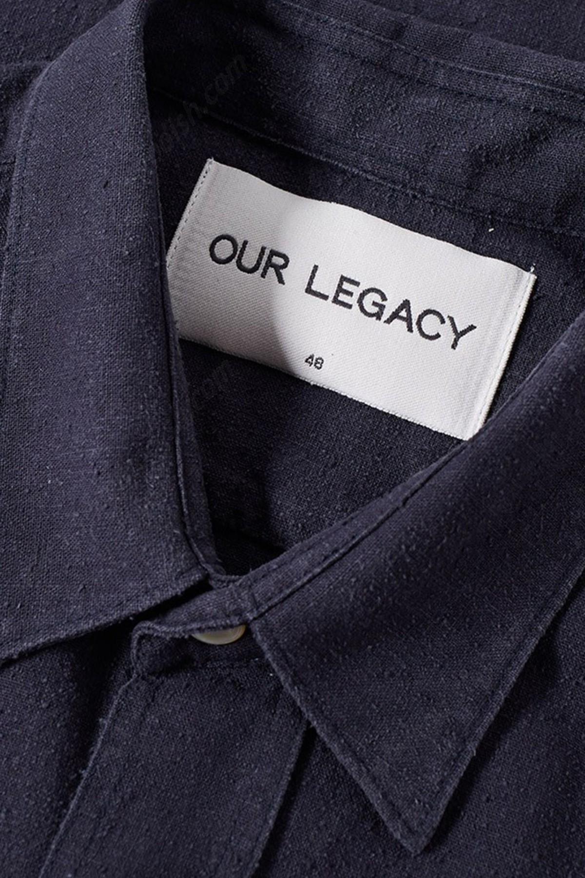 Men's Our Legacy Classic Silk Tshirts - Navy - -1