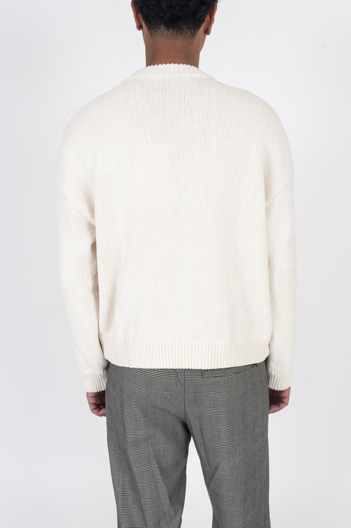 Mens's Our Legacy Sonar Roundneck Sweater - White - -2
