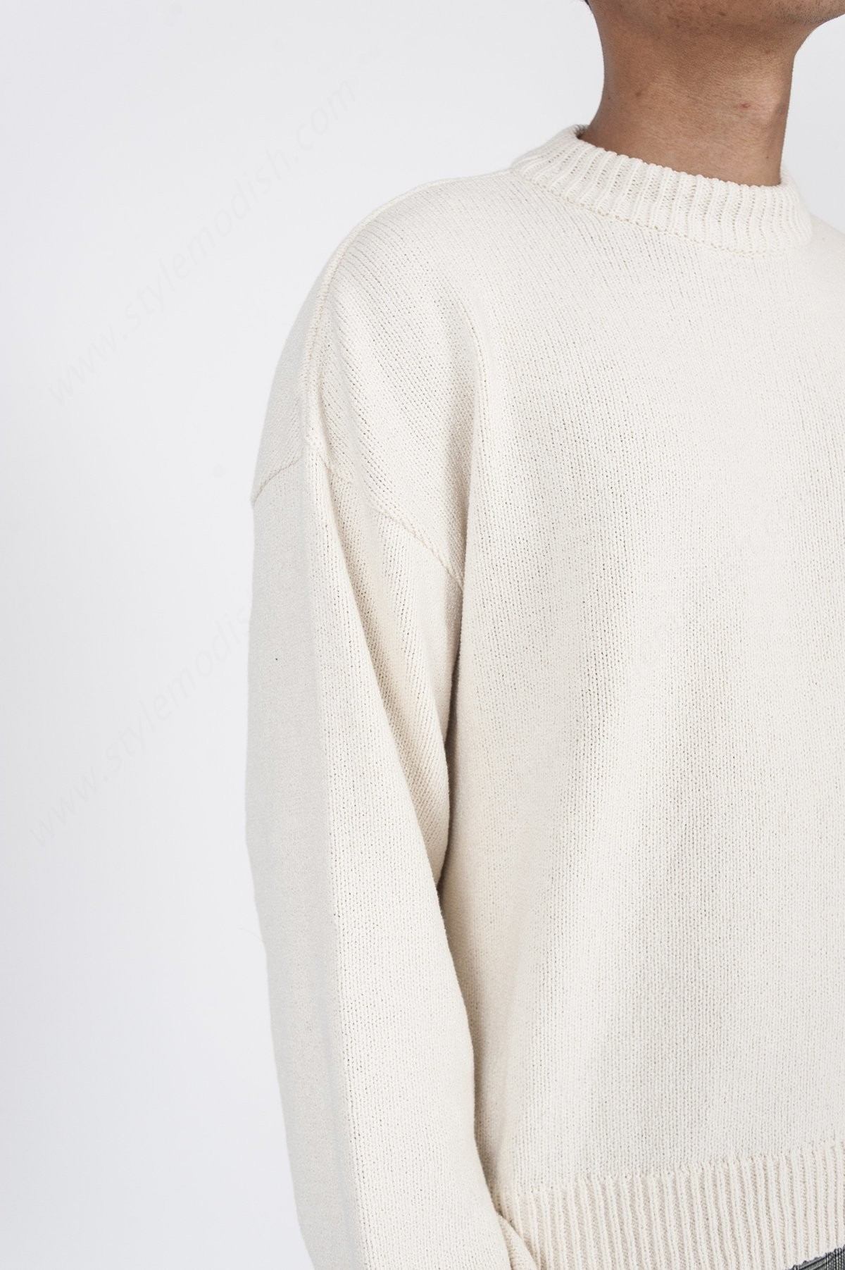 Mens's Our Legacy Sonar Roundneck Sweater - White - -3