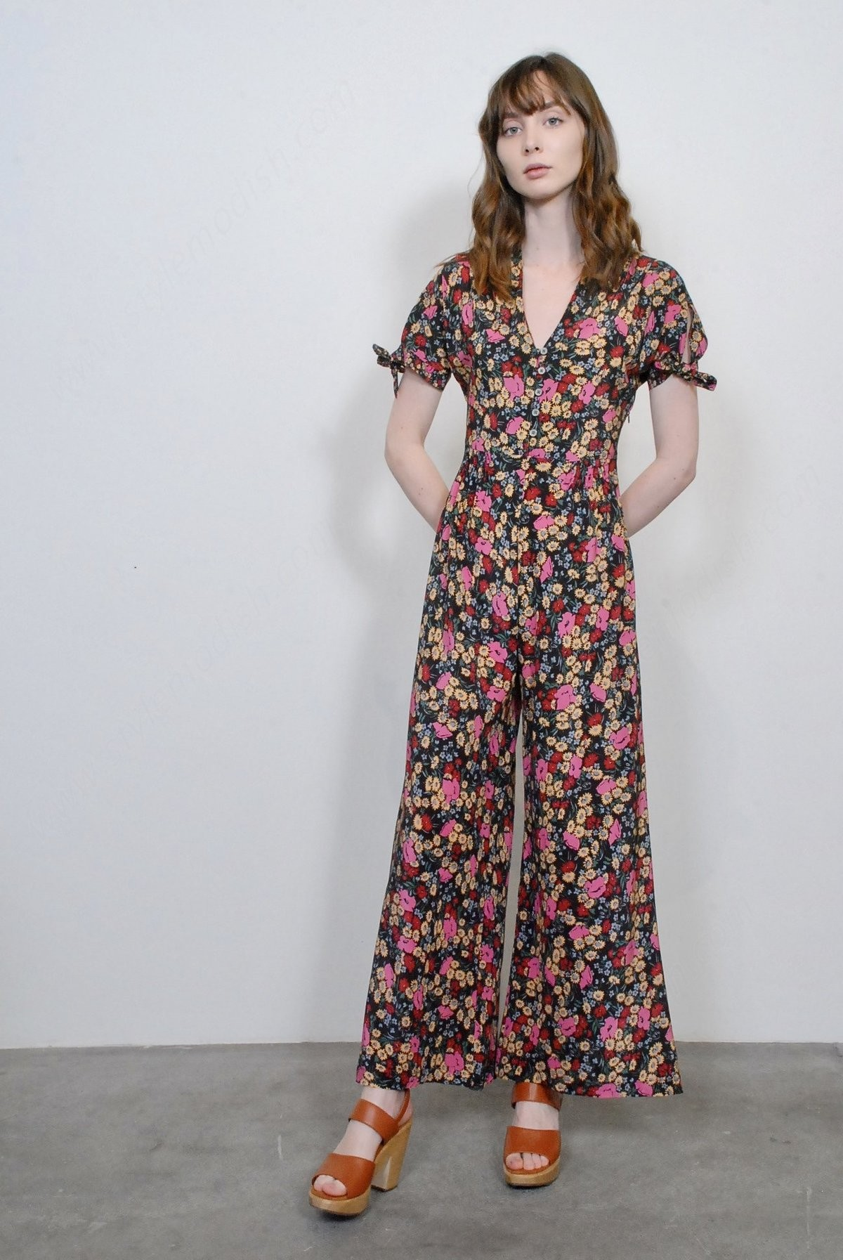 No.6 Lady's No. Althea Jumpsuit In Large Espresso London Floral - -0