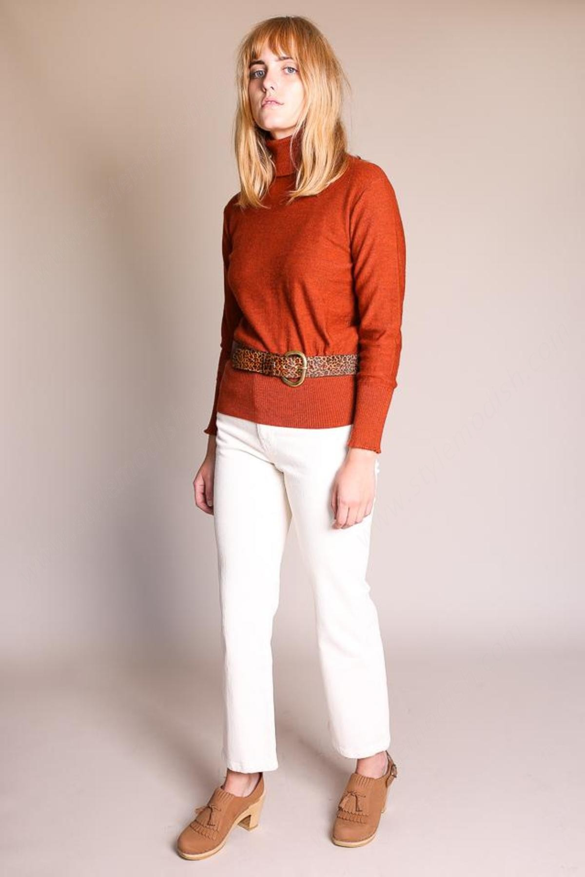No.6 Lady's No. Amanda Turtleneck - Rust Tops - -2