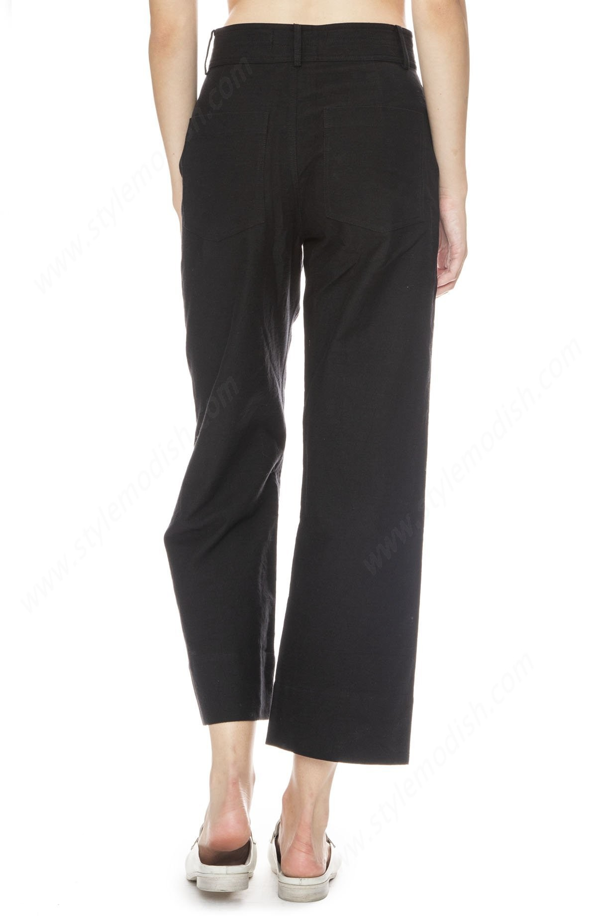Woman's Apiece Apart Merida Wide Leg Crop Pant - Black - -1