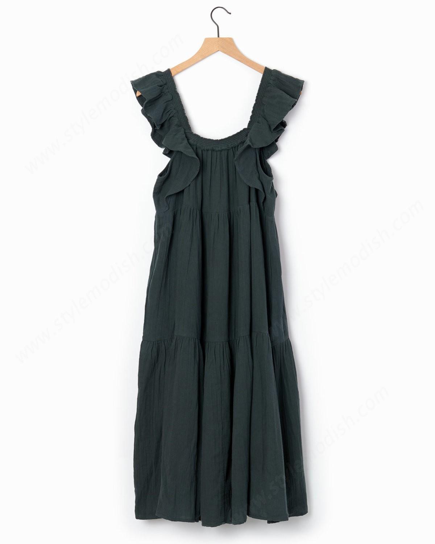 Woman's Apiece Apart Ossetia Dress - Mallard - -1