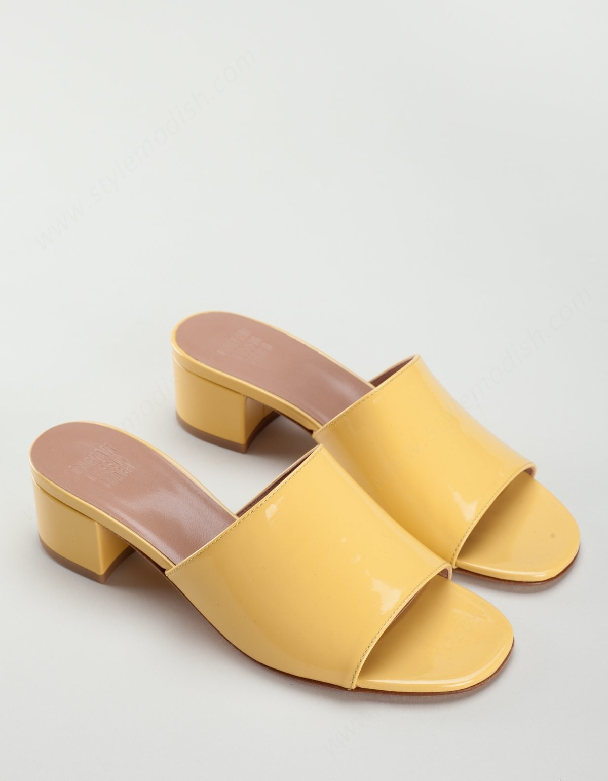 Woman's Maryam Nassir Zadeh Sophie Slide Amber Patent - -0