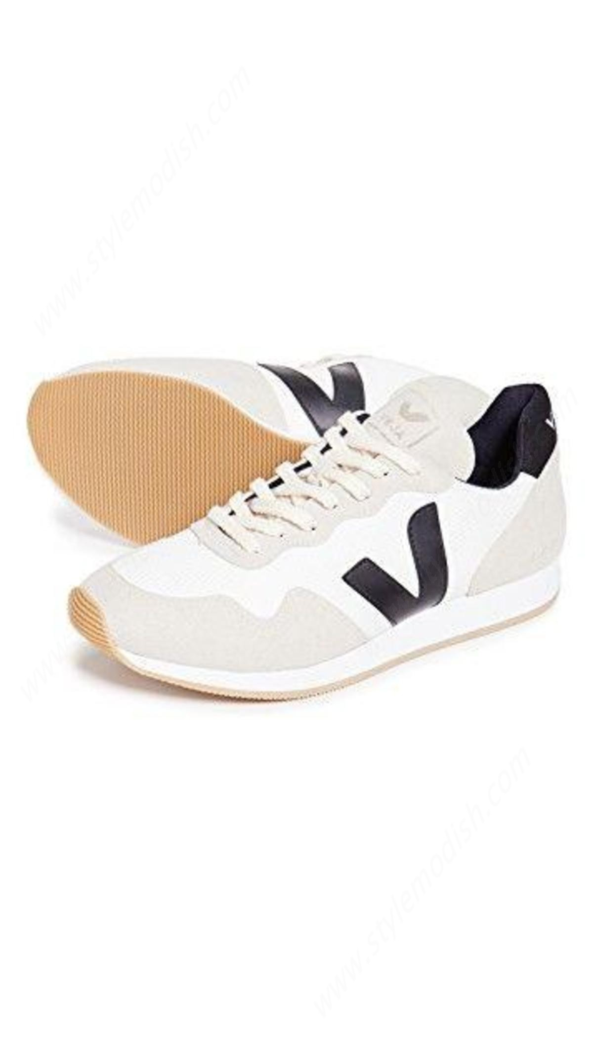 Womens's Veja Santos Dumont Natural Mesh Trainers - Grey/white - -3