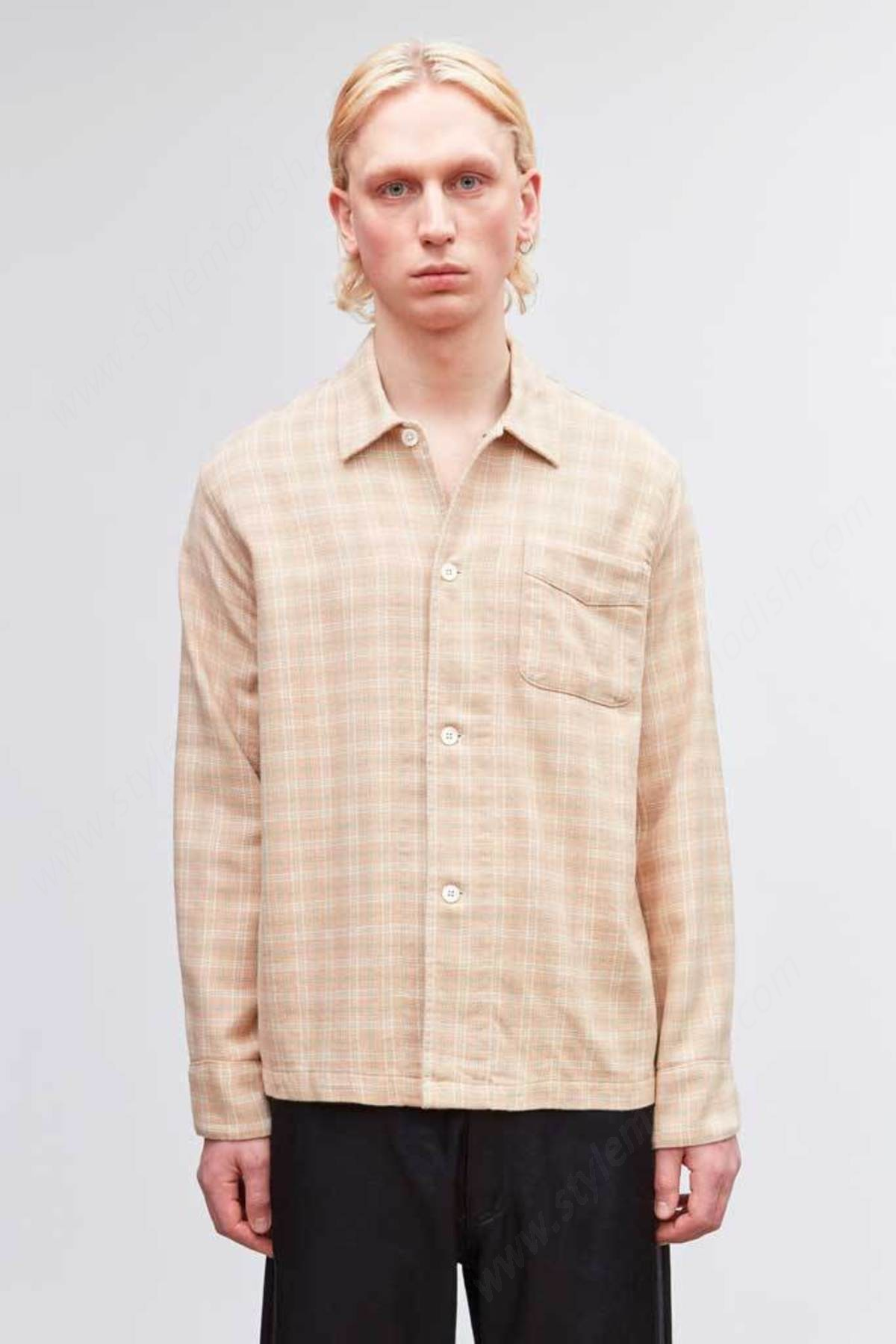 Men's Our Legacy Box Shirts - Pink Shadow Check - Men's Our Legacy Box Shirts - Pink Shadow Check