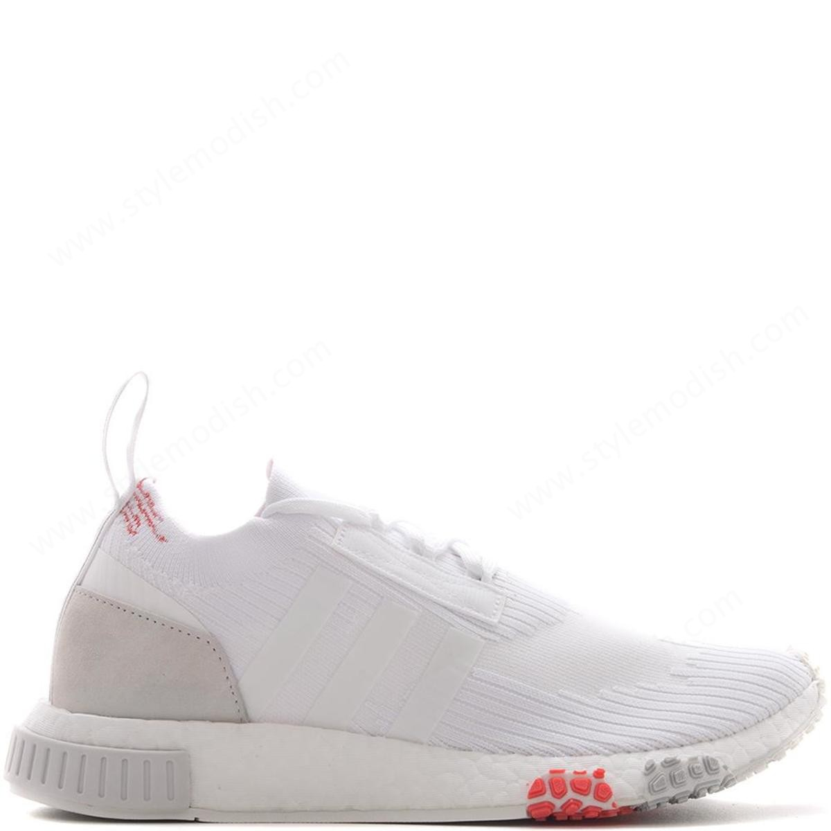 Woman's Adidas Nmd Racer Pk Sneakers - White - Woman's Adidas Nmd Racer Pk Sneakers - White