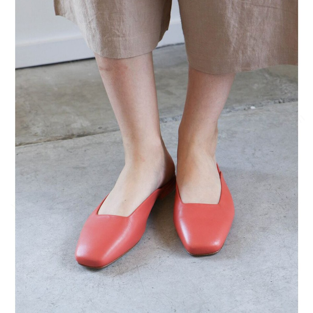 Womens's Loq Lucia Flats - Coral Shoe - Womens's Loq Lucia Flats - Coral Shoe