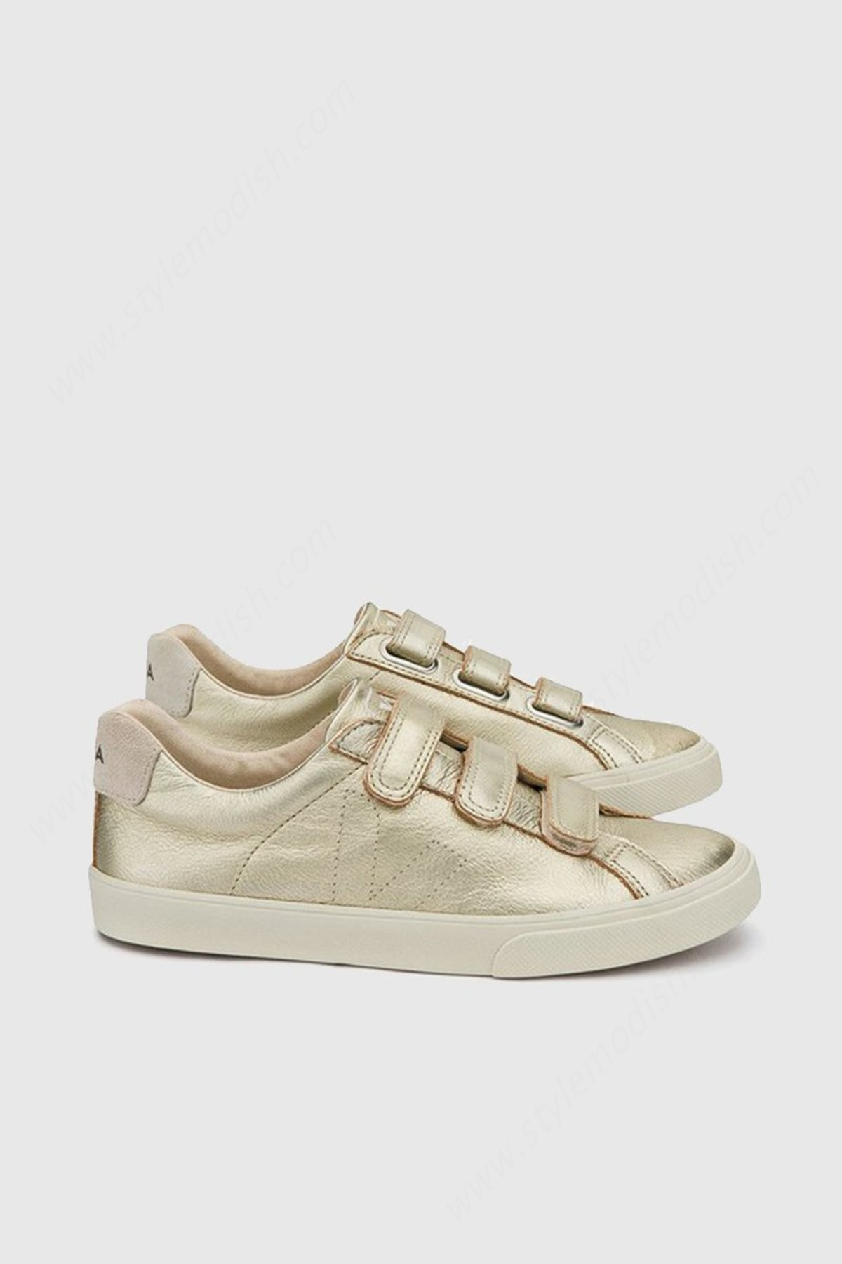 Womens's Veja Esplar Lock Leather - Gold Trainers - Womens's Veja Esplar Lock Leather - Gold Trainers