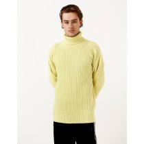 Men's Our Legacy Rib Turtleneck Citron Wool Tops