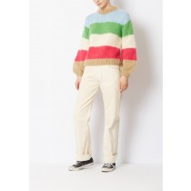 Woman's Ganni Striped Julliard Mohair Sweater