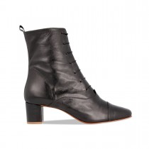 Womens's By Far Lada Leather Boot - Black